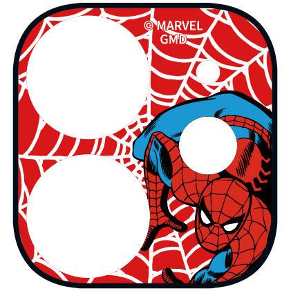 MARVEL iPhone 12 対応カメラカバー スパイダーマン[グルマンディーズ]《在庫切れ》
