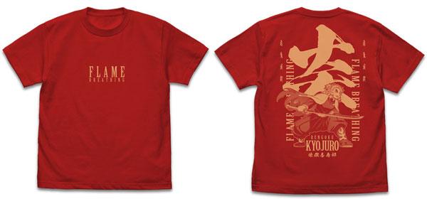 鬼滅の刃 無限列車編 炎の呼吸 煉獄杏寿郎 Tシャツ/RED-L(再販)[コスパ]《12月予約》