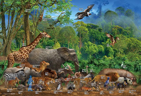 ジグソーパズル 動物大きさ比べ 100ピース (100-025)[ビバリー]《発売済・在庫品》