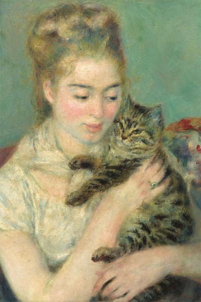 ジグソーパズル 猫を抱く女性(ルノワール) 1000ピース (1000-083)[キューティーズ]《在庫切れ》