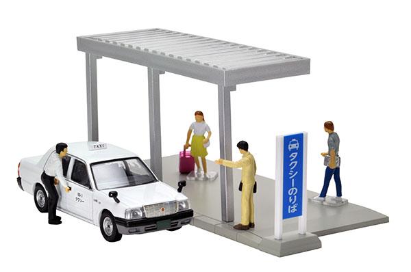 ジオラマコレクション ジオコレ64 #カースナ04a タクシー乗り場[トミーテック]《在庫切れ》
