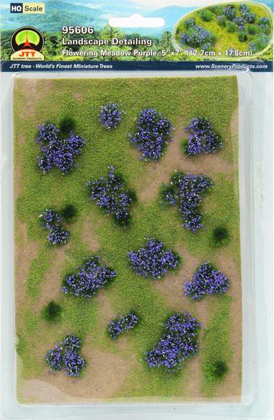 ジオラマシート 紫の花咲く牧草地 HOスケール[JTTミニチュアツリー]《在庫切れ》