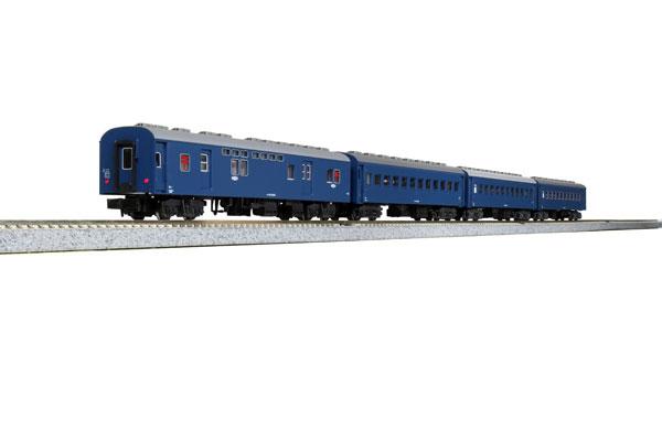 旧形客車 4両セット(ブルー)[KATO]《発売済・在庫品》