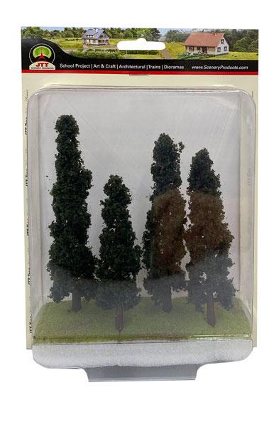 針葉樹 HOスケール (4本入り)[JTTミニチュアツリー]《在庫切れ》
