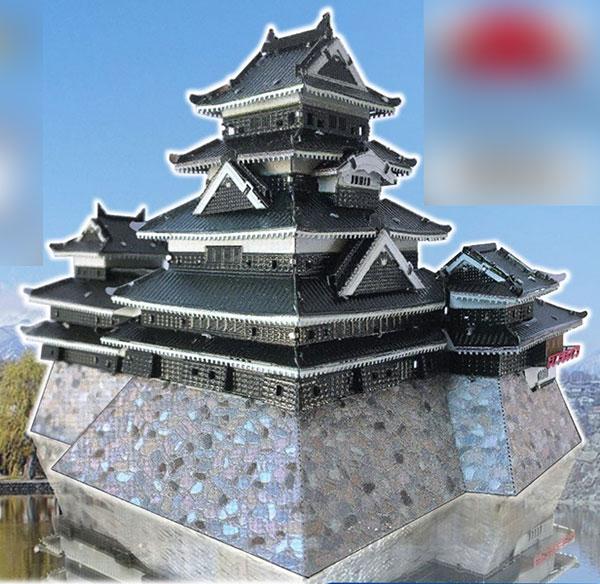 メタリックナノパズル プレミアムシリーズ T-MP-014M 松本城[テンヨー]《在庫切れ》