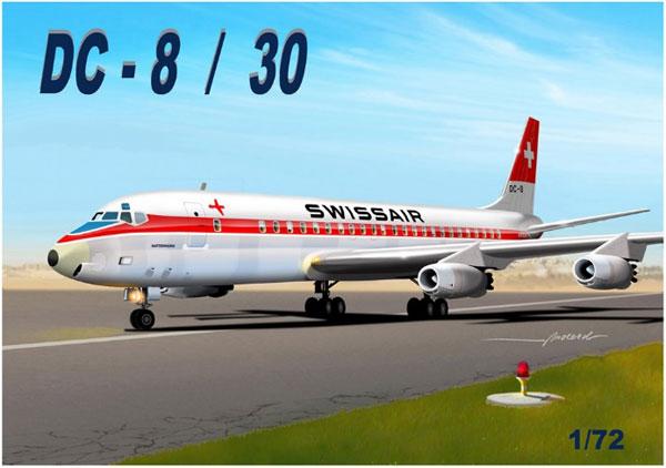 1/72 DC-8/30 SWA プラモデル[マッハ2]《在庫切れ》