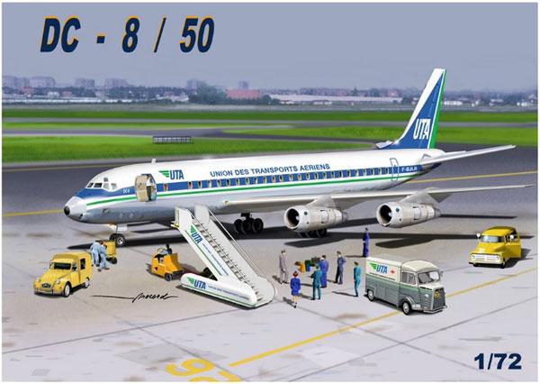 1/72 DC-8/50 UTA プラモデル[マッハ2]《在庫切れ》