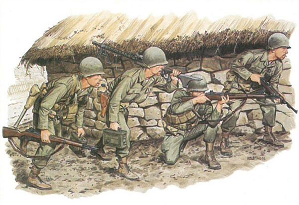 1/35 アメリカ軍 G.I. 朝鮮戦争 釜山軍事防衛境界線 1950 プラモデル(再販)[ドラゴンモデル]《01月予約》