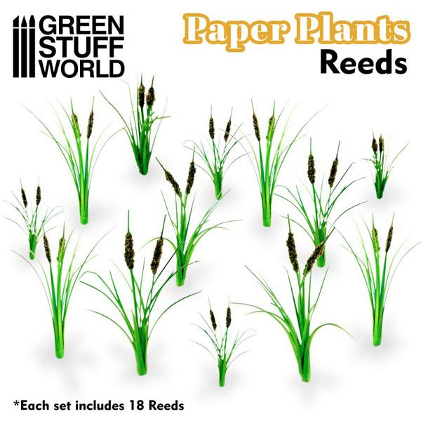 ジオラマ素材 ペーパープランツ 葦の葉[グリーンスタッフワールド]《02月予約》
