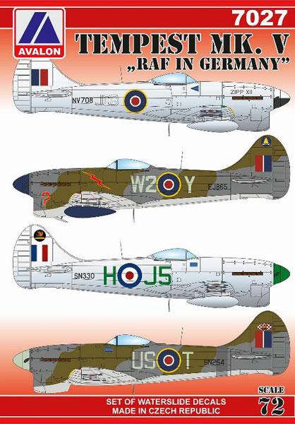 1/72 テンペスト Mk.V 「ドイツ駐留イギリス空軍」[アヴァロンデカール]《在庫切れ》