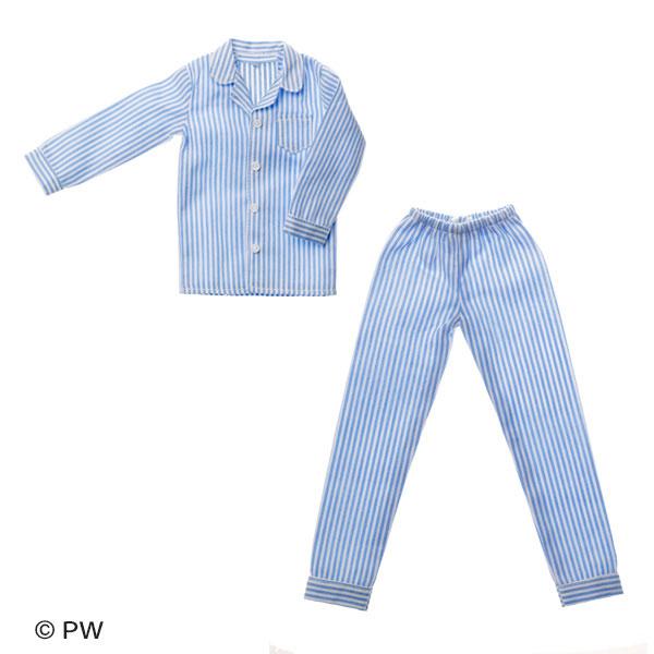 メンズパジャマ ブルーストライプ (ドール用)[ペットワークス]《発売済・在庫品》