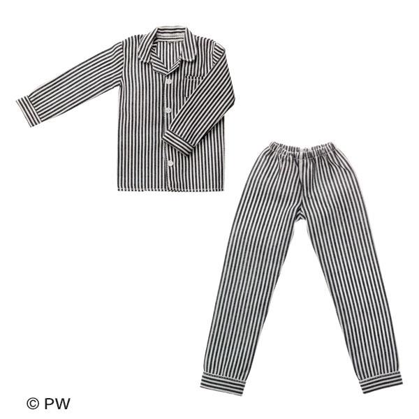 メンズパジャマ ブラックストライプ (ドール用)[ペットワークス]《発売済・在庫品》