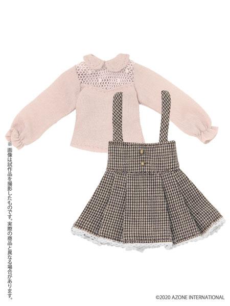 ピコニーモ用 1/12 スウィートハイウエストスカートset ピンク×ブラウン (ドール用)[アゾン]《発売済・在庫品》