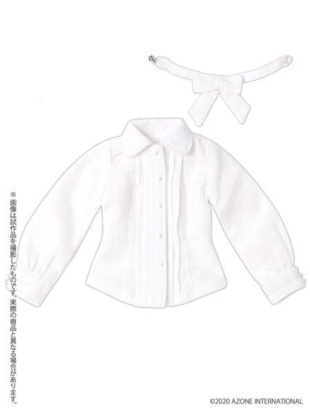 1/6 ピュアニーモ用 PNM おめかしリボンブラウスIII ホワイト (ドール用)[アゾン]《発売済・在庫品》