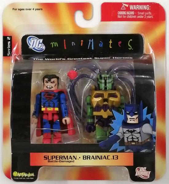 miniMates Series 2 スーパーマン Battle-Damaged&ブレイニアック 13