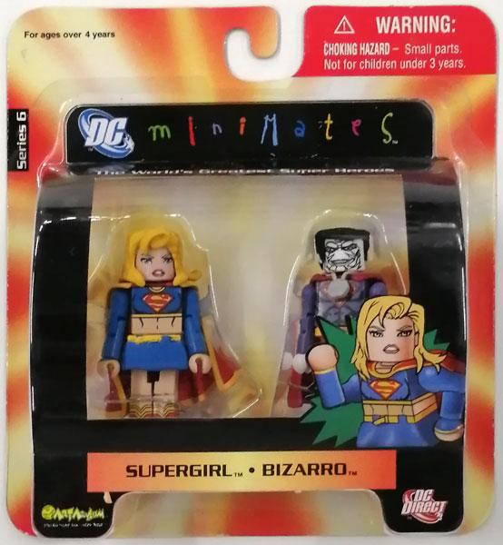 【中古】(本体A/箱B)miniMates Series 6 スーパーガール&ビザロ[DCダイレクト]《発売済・在庫品》