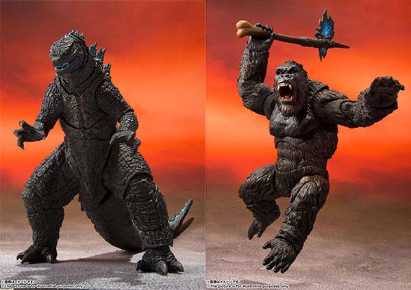 S.H.MonsterArts GODZILLA FROM GODZILLA VS. KONG(2021) / KONG FROM GODZILLA VS. KONG(2021) 2種セット[BANDAI SPIRITS]《05月予約》