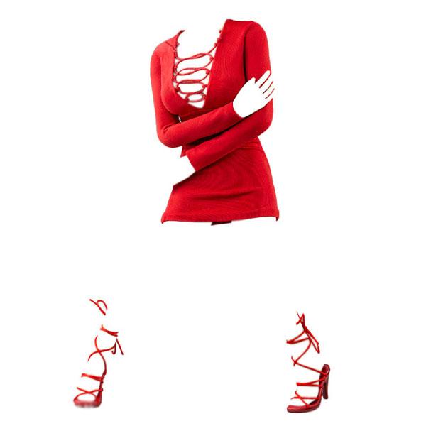 1/6 女性アウトフィット ファッションドレス セット C (ドール用)[Very Cool]《06月仮予約》