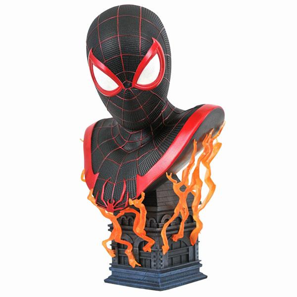 3Dレジェンズ/ Marvel's Spider-Man Miles Morales: マイルス・モラレス バスト[ダイアモンドセレクト]【送料無料】《07月仮予約》