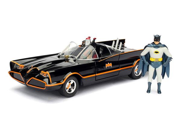 【8月以降発送・発売済商品】『DCコミックス』1/24 ダイキャストビークル バットモービル&バットマン&ロビン(再販)[Jada Toys]《在庫切れ》