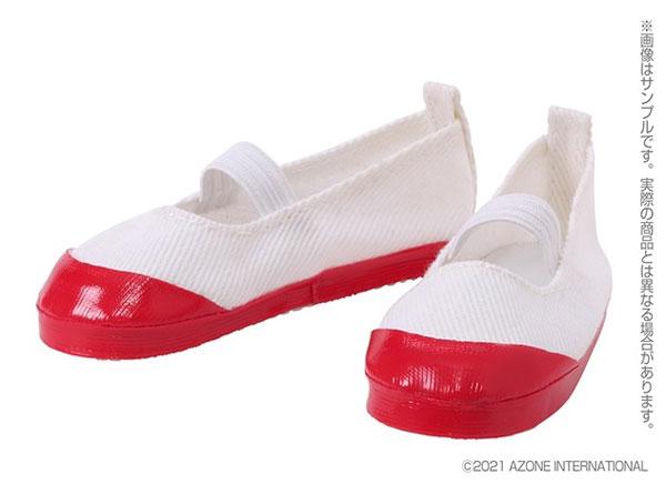 1/3スケール用 50上履きII 白×赤 (ドール用)[アゾン]《在庫切れ》