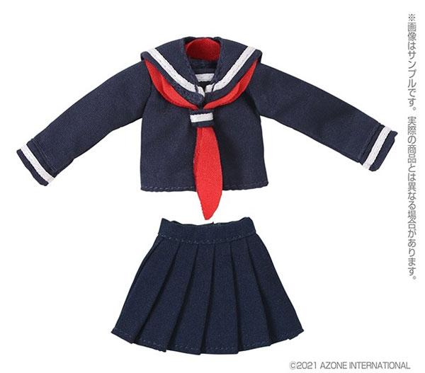 ピコニーモ用 1/12 長袖セーラー服II ネイビー×レッド (ドール用)[アゾン]《在庫切れ》