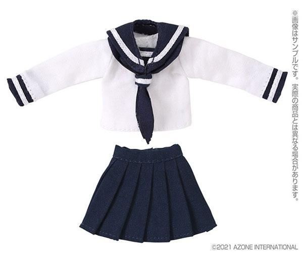ピコニーモ用 1/12 長袖セーラー服II ホワイト×ネイビー (ドール用)[アゾン]《04月予約》