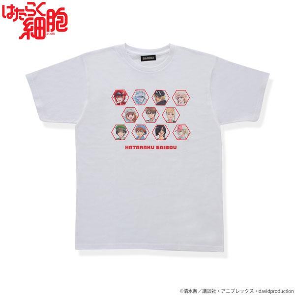 はたらく細胞 大集合!Tシャツ ホワイト L[バンダイ]《在庫切れ》