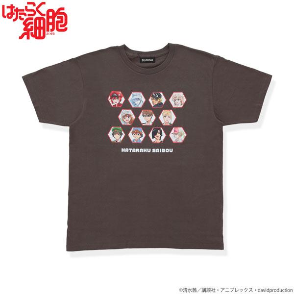 はたらく細胞 大集合!Tシャツ チャコールグレー S[バンダイ]《在庫切れ》