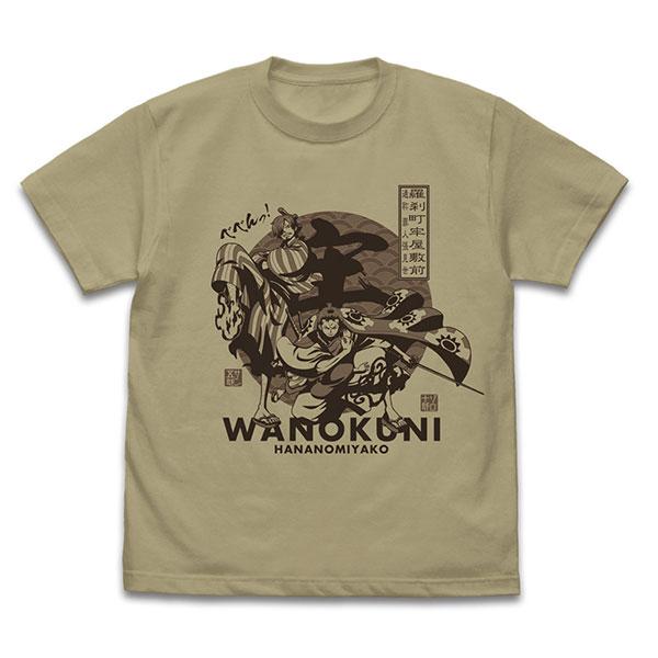 ワンピース ゾロ十郎&サン五郎 Tシャツ/SAND KHAKI-M(再販)[コスパ]《08月予約》