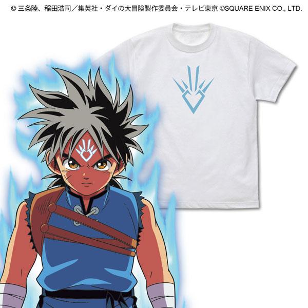 ドラゴンクエスト ダイの大冒険 竜の紋章 Tシャツ/WHITE-L(再販)[コスパ]《10月予約》