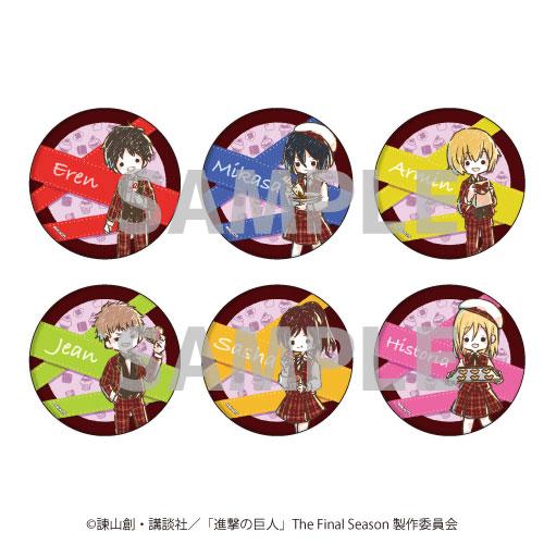 缶バッジ「進撃の巨人」16/バレンタインver. グラフアート 6個入りBOX[A3]《04月予約》