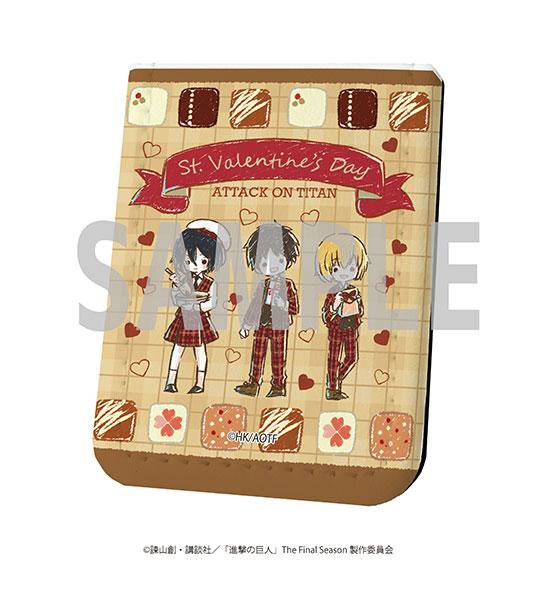 レザーフセンブック「進撃の巨人」18/バレンタインver. エレン&ミカサ&アルミン(グラフアート)[A3]《在庫切れ》