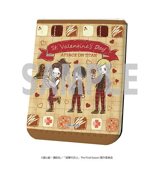 レザーフセンブック「進撃の巨人」19/バレンタインver. リヴァイ&エルヴィン&ハンジ(グラフアート)[A3]《在庫切れ》