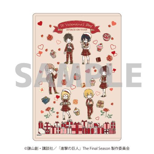 キャラクリアケース「進撃の巨人」02/バレンタインver. ちりばめデザイン(グラフアート)[A3]《04月予約》