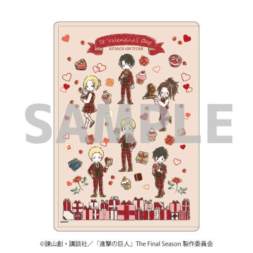 キャラクリアケース「進撃の巨人」03/バレンタインver. ちりばめデザイン(グラフアート)[A3]《04月予約》
