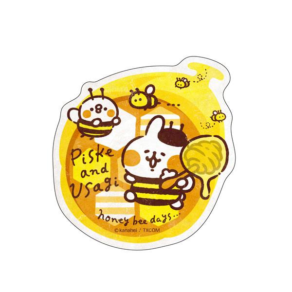カナヘイの小動物 トラベルステッカー ピスケとうさぎのみつばちデイズ(5)[エンスカイ]《発売済・在庫品》