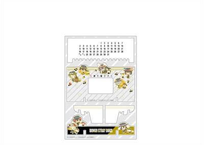 文豪ストレイドッグス×サンリオキャラクターズ アクリル万年カレンダー A オーケストラ ver.[コンテンツシード]《在庫切れ》