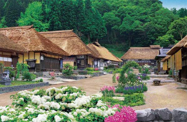 ジグソーパズル 新緑の大内宿‐福島 1000ピース (09-012S)[エポック]《04月予約》