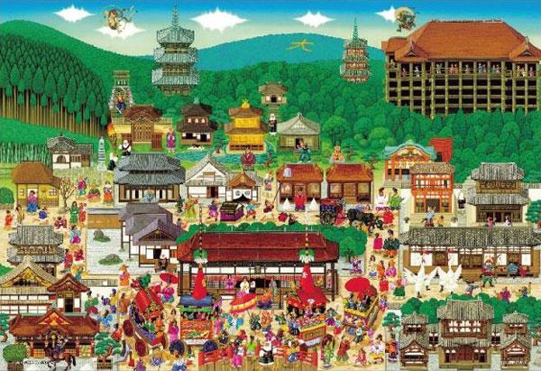ジグソーパズル アート 京都名所大集合 1000マイクロピース (M81-615)[ビバリー]《在庫切れ》
