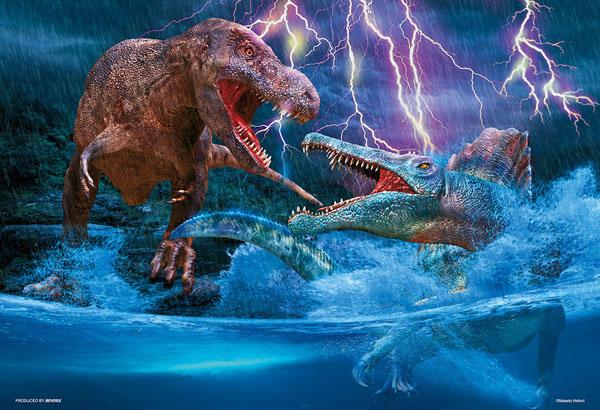 ジグソーパズル 水中からの猛攻撃 ティラノサウルス VS スピノサウルス 300ピース (93-164)[ビバリー]《05月予約》