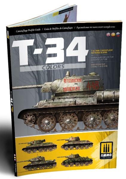 WW.II T-34 カラー & 迷彩パターン (英/西/ロシア語併記) (書籍)[アモ]《在庫切れ》