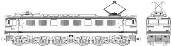 TW-EF60-F010A 国鉄 EF60 第2次量産型 やすらぎ色[トラムウェイ]【送料無料】《秋月予約》