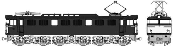 TW-EF60-F010C 国鉄 EF60 第2次量産型 一般色(1灯)[トラムウェイ]【送料無料】《秋月予約》