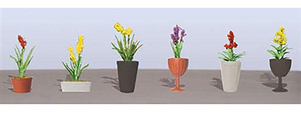 鉢植えの花セット2 HOスケール (6鉢入り)[JTTミニチュアツリー]《04月予約》