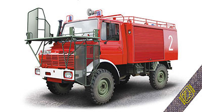 1/72 独・ウニモグU1300L特殊消防車kfz.TLF1000 プラモデル[ACE]《発売済・在庫品》