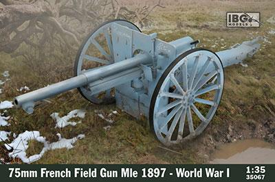 1/35 仏・75mmシュナイダーM.1897野砲・第一次大戦型 プラモデル[IBG]《在庫切れ》