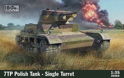 1/35 ポ・7TP単砲塔型戦車37mm砲・フルインテリア付 プラモデル[IBG]《発売済・在庫品》