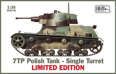 1/35 ポ・7TP単砲塔型戦車・フルインテリア付+ポ戦車兵&金属砲身・限定 プラモデル[IBG]《発売済・在庫品》