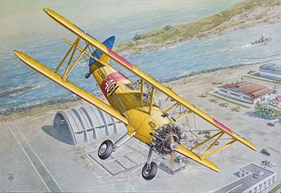 1/32 米ボーイング・ステアマンPT-13ケイデット複葉練習機 プラモデル[ローデン]《在庫切れ》